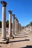 Ephesus kolonnad i selcuk Royaltyfri Foto