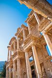 Ephesus library. Ancient library of Julius Celsus in Ephesus, very popular touristic attraction and destination, but also a local landmark in Turkey Royalty Free Stock Photo