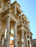 Ephesus library. Ancient ruins, famous library in Ephesus,Turkey stock photo