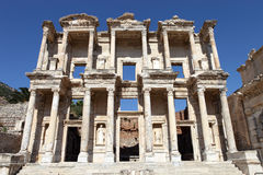 Ephesus library of celcus in ancient ephesus, Royalty Free Stock Photography