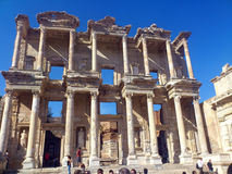 Ephesus Library of Celsus Stock Photos