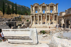 Ephesus and the Library of Celsus Royalty Free Stock Image