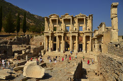 Ephesus Library of Celsus Stock Image