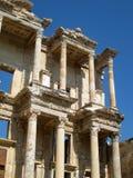 Ephesus library facade Turkey. Ephesus library ruins facade Turkey Royalty Free Stock Images