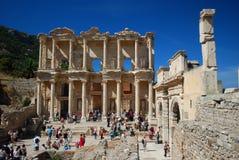Ephesus library. The grand library of Ephesus Stock Photography