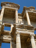 Ephesus Library ruins Turkey. Ephesus Library ancient ruins Turkey Royalty Free Stock Images