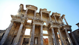 Ephesus library in Turkey. Old ruin, famous library in Ephesus,Turkey royalty free stock photography