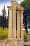 Ephesus marble columns Royalty Free Stock Photography