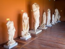 Ephesus museum exhibits. In Selcuk, Izmir, Turkey Royalty Free Stock Images