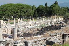 Ephesus odeon stockbild