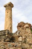 Ephesus relics. Ephesus is one of the most ancient cities of the world and it has played a very important role as a capital city during ancestry. Located on the stock photography
