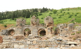 Ephesus relics. Ephesus is one of the most ancient cities of the world and it has played a very important role as a capital city during ancestry. Located on the royalty free stock photos