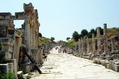 Ephesus road Stock Image