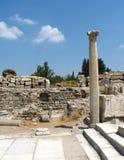 Ephesus Ruinen stockfotos