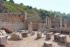 Ephesus ruins. Ancient Greek city on the coast of Ionia Stock Photos