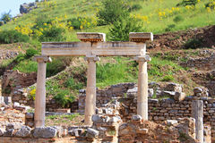 Ephesus ruins. Ancient Greek city on the coast of Ionia Royalty Free Stock Images