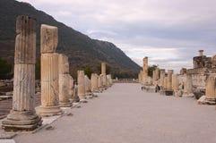 Ephesus. The ruins of ancient Greek city Ephesus in western Turkey Stock Photos