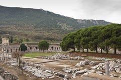 Ephesus. The ruins of ancient Greek city Ephesus in western Turkey Royalty Free Stock Photo