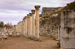 Ephesus. The ruins of ancient Greek city Ephesus in western Turkey Stock Photo