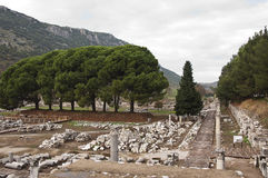 Ephesus. The ruins of ancient Greek city Ephesus in western Turkey Royalty Free Stock Photos
