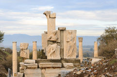 Ephesus. The ruins of ancient Greek city Ephesus in western Turkey Royalty Free Stock Photos