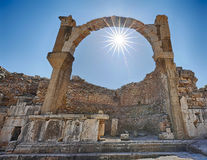 Ephesus. Ruins of the Pollio fountain Royalty Free Stock Images
