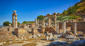 Ephesus. The ruins of the Prytaneion Stock Image