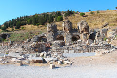 Ephesus ruins in Selcuk, Turkey Royalty Free Stock Photos