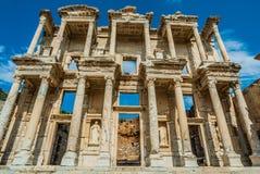 Ephesus ruins Turkey. Ephesus ancient greek ruins in Anatolia Turkey Stock Images