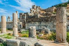 Ephesus ruins Turkey. Ephesus ancient greek ruins in Anatolia Turkey Stock Photography