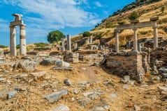 Ephesus ruins Turkey. Ephesus ancient greek ruins in Anatolia Turkey Royalty Free Stock Images