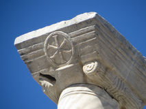 Ephesus-Symbol im Stein Stockbilder