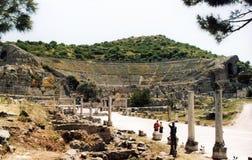 Ephesus teater Royaltyfri Foto