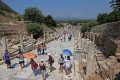 Ephesus Tourists Royalty Free Stock Photography