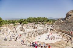 Ephesus, Turcja Widok antykwarski teatr Przypuszczalnie budujący w 133 BC Obrazy Stock