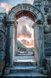 EPHESUS, TURKEY – August 05, 2014 at Ephesus, Turkey. Ruins of ancient Greek city of Ephesus Stock Photography