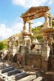 Ephesus in Turkey. Ruins of the Fountain of Traian in the city of Ephesus in modern day Turkey Royalty Free Stock Photos