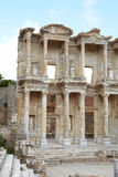 Ephesus in Turkey. The remains and statues of the enormous Library of Celsus in the city of Ephesus in modern day Turkey Royalty Free Stock Photography