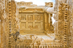 Ephesus in Turkey. The details of the Celsus library of ancient Ephesus in Kusadasi, Turkey Stock Photo