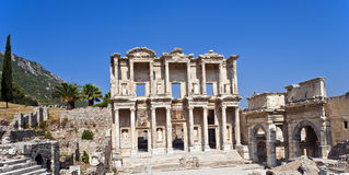 Ephesus, Turkey. Ephesus was an ancient Greek city, and later a major Roman city, on the west coast of Asia Minor, near present-day Selcuk, Izmir Province Royalty Free Stock Image