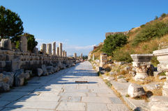 Ephesus, Turkey. Street of Currettes in Ephesus, Turkey Royalty Free Stock Photo
