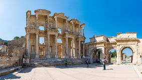 A group of tourists in Ephesus Turkey on April 13, 2015 Stock Photography