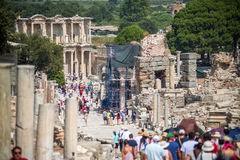EPHESUS, TURKEY - AUG 01: visitors in Curetes street on August 0 Stock Image
