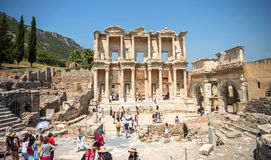EPHESUS, TURKEY - AUG 01: visitors in Curetes street on August 0 Royalty Free Stock Image