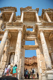EPHESUS, TURKEY - AUG 01: visitors in Curetes street on August 0 Stock Photography