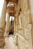 EPHESUS, TURKEY - december 2014. Library of Celsus in Ephesus ancient city, UNESCO world heritage site in Selcuk, Turkey Royalty Free Stock Photos