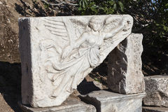 Ephesus, Turkey. The image of the goddess of victory Nike Royalty Free Stock Photography