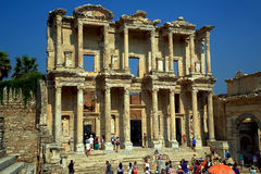 Ephesus Turkey Library. Ancient ruins wonder of the world archaeology Royalty Free Stock Images