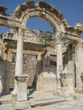 Temple of Hadrianus, Ephesus in Turkey. Royalty Free Stock Image