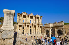 Ephesus  turkey. EPHESUS, TURKEY SEPTEMBER. 27, 2016  Tourists visiting the ruins of Ephesus in Turkey from the preserved megas of Asia Minor being one of the Stock Photo